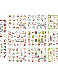 Nail Sticker NEW 2016 Christmas Santa Claus Watermark Stamp Designs Nail Art Decor Beauty Charm Nail Sticker BLE2325-2335