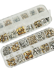 cheap -1200PCS Mixs Model Rivet Nail Art Decorations