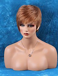 Недорогие -жен. Человеческие волосы без парики Черный как смоль Medium Auburn Medium Auburn / Bleach Blonde Клубника Blonde / Bleach Blonde Бежевый