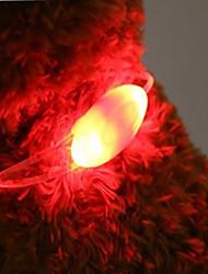Недорогие -Кошка Собака Ошейники Светодиодные фонарики Батареи прилагаются Новинки пластик Зеленый Синий Розовый
