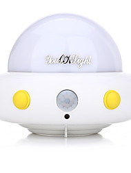 youoklight DC5V 1W disco volante a forma di UFO LED di notte la luce della lampada del sensore di movimento per camera da letto i bambini