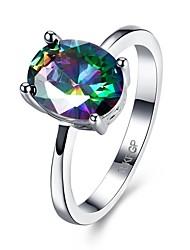 Ring Verlobungsring Zirkon Kubikzirkonia Kupfer Simple Style Silber Schmuck Hochzeit Party Alltag Normal 1 Stück