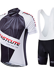 Fastcute Fahrradtrikot mit Trägerhosen Herrn Kurzarm Fahhrad Bib - Shorts/Kurze radhose MIT Trägern Sweatshirt Trikot/Radtrikot