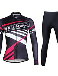 ILPALADINO Maglia con pantaloni da ciclismo Per donna Manica lunga Bicicletta Set di vestiti Asciugatura rapida Resistente ai raggi UV