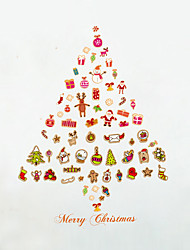 Wall Stickers Wall Decals Style Christmas Tree Gift PVC Wall Stickers