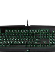 abordables -mecánica teclado / teclado retroiluminado de juego USB monocromática Razer blackwidow última