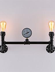 abordables -AC 100-240 120 E26/E27 Rústico/ Campestre Retro Cosecha Pintura Característica for Mini Estilo,Luz Ambiente Candelabro de paredLuz de