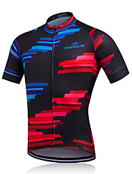 Недорогие -Fastcute Велокуртки Муж. С короткими рукавами Велоспорт Жакет Рубашка Толстовка Спортивный костюм Джерси Быстровысыхающий