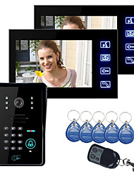 "Touch Key 7"" Lcd Video Door Phone Intercom System Wth IR Camera & Code Keypad 1V2"