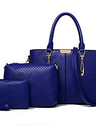 Donna Sacchetti Per tutte le stagioni Vacchetta sacchetto regola Set di borsa da 3 pezzi per Casual Bianco Rosso Blu