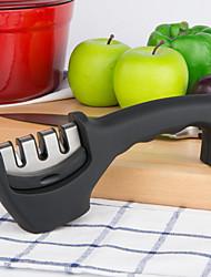 Недорогие -может пятнадцатый кухня& напольный нож точилка 3 этап профессиональный нож заточить сталь во всех размерах (черный)
