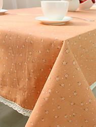 baratos -Misto de Algodão Quadrada Toalhas de Mesa Toile Amiga-do-Ambiente Decorações de mesa