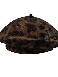 Недорогие -Жен. На каждый день Вязаная шапочка,Зима Осень Шерсть С животными принтами Белый Коричневый Красный Темно-русый