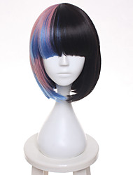 cheap -Synthetic Wig / Cosplay & Costume Wigs Straight Bob Haircut Synthetic Hair Black Wig Women's Short Capless