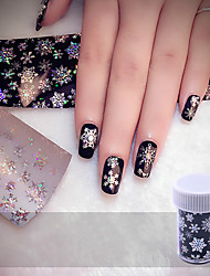 cheap -Christmas Snowflake Holographic Nail Foils Nail Art Transfer Sticker Paper