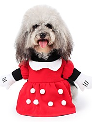 cheap -Pet Dog Clothes Set Coat Costume For Halloween Party Cosplay Playing Apparel