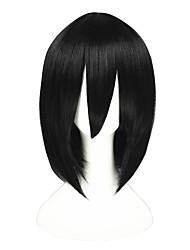economico -Parrucche Cosplay Fullmetal Alchemist Akari Nero Corto Anime Parrucche Cosplay 35 CM Tessuno resistente a calore unisex