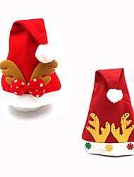 2pcs designé christmas decoração presentes aleatória papel ofing ornamento chapéu Natal