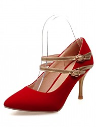 Feminino-Saltos-Conforto Inovador-Salto Agulha-Preto Azul Vermelho-Courino-Ar-Livre Escritório & Trabalho Casual