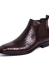 Masculino sapatos Couro Conforto Botas Para Casual Preto Café