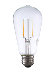 E26 LED Filament Bulbs ST19 2 COB 220 lm Warm White 2700 K Dimmable Decorative AC 110-130 V