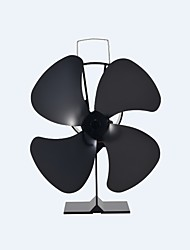 Freestanding 4-Blade Heat Powered Eco-Friendly Classical Stove Fan Fireplace Fan 180 CFM Max