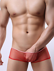 cheap -Men's Sexy Boxers Underwear Ultra Sexy Panties - Mesh, Solid Colored Low Rise