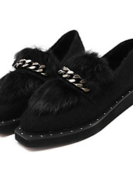 Women's Loafers & Slip-Ons Fall  Animal Skin Casual Black Red