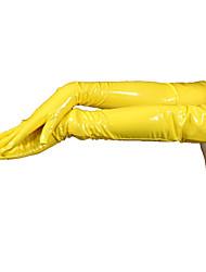 billige -Handsker Ninja Spandex Heldragt Cosplay Kostumer Gul Ensfarvet Handsker PVC Herre / Dame Halloween / Høj Elasticitet