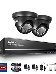 sannce® 1.0MP 720p 4ch hd 4 in1 tvi h.264 dvr in / im Freien Überwachungskamera-System
