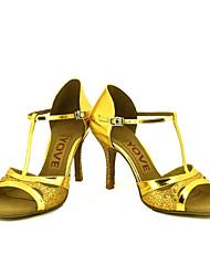 Dansesko(Sort / Sølv / Guld) -Kan tilpasses-Personligt tilpassede hæle-Damer-Latin / Salsa
