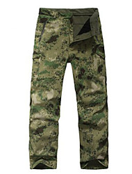 cheap -Camouflage Hunting Pants Waterproof Thermal / Warm Windproof Fleece Lining Insulated Wearable Breathable Protective Unisex Camouflage
