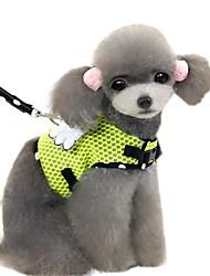 Недорогие -Кошка Собака Ремни Поводки Мягкий Безопасность Жилет Повседневная Однотонный Горошек Мультипликация Ткань Желтый Розовый