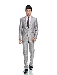 cheap -Tuxedos Tailored Fit Notch Single Breasted One-button Wool Blend Polyester / Rayon(T / R) Viscose Solid Colored