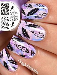 nés assez ongles modèle art estampage plaques bp75 conception oiseaux dragon plume