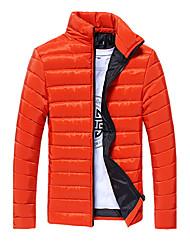 Standard Piumino Da uomo,Cappotto Attivo Sport Casual Tinta unita Rayon Polipropilene Manica lunga Colletto alla coreana