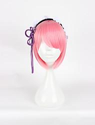 Недорогие -Re: Zero - Начало жизни в другом мире Rem Ram Косплэй парики Жен. 14 дюймовый Термостойкое волокно Розовый Аниме