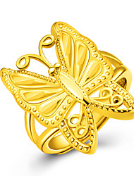 cheap -Women's Gold / 18K Gold Butterfly Ring / Band Ring - Animal Golden Ring For Party / Anniversary / Birthday
