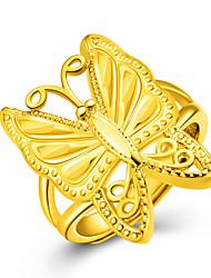preiswerte -Damen Ring Bandring Gold 18K Gold Schmetterling Tier Modeschmuck Party Jahrestag Geburtstag Alltag Normal