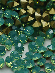 cheap -SS8 20pcs/lot 2.3mm-2.5mm New Design Green Opal Rhinestone For Nail Jewelry Golden Point Back 3D Rhinestones Decoration
