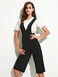 abordables -Mujer Boho Microelástico Pantalones, A Rayas Rayón