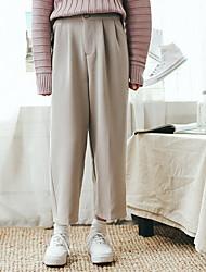 abordables -Mujer Activo Perneras anchas Chinos Pantalones - Un Color