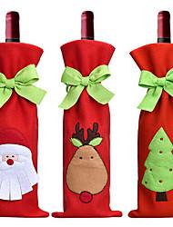 cubierta de la botella de vino tinto 3 piezas venta caliente decoración de Navidad Santa Claus muñeco de nieve