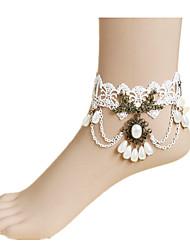Недорогие -женщин белое кружево ножной ювелирные изделия 1шт