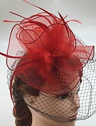 abordables -red de plumas fascinators birdcage velos casco elegante estilo