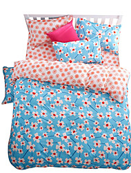 Mingjie Wonderful Blue and Pink Flowers Bedding Sets 4PCS for Twin Full Queen King Size from China Contian 1 Duvet Cover 1 Flatsheet 2 Pillowcases