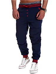 Men's Mid Rise Micro-elastic Active Chinos Sweatpants Pants,Active Straight Solid
