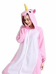 cheap -Kigurumi Pajamas Horse / Unicorn Onesie Pajamas Costume Velvet Mink Cosplay For Adults' Animal Sleepwear Cartoon Halloween Festival /