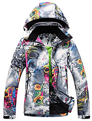 Ski Wear Ski/Snowboard Jackets Women's Winter Wear Polyester Floral / Botanical Winter Clothing Thermal / Warm Windproof WearableCamping