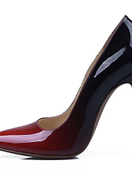 Women's Heels Spring Summer Fall Winter Comfort Club Shoes Light Up Shoes Cowhide Dress Casual Party & Evening Stiletto Heel Red Walking